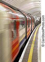 Subway train - Abstract image of train in fast motion...