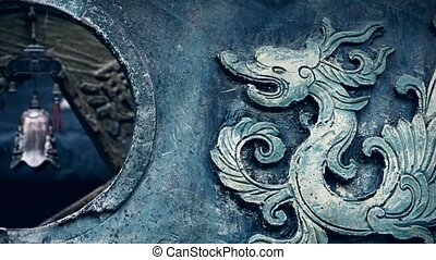 Chinese classical historical bronze dragon pattern