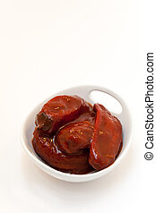Chipotle peppers  - Chipotle. Smoked Mexican peppers