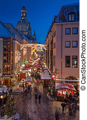 Christmas Market in Dresden - DRESDEN, GERMANY - DECEMBER 7,...