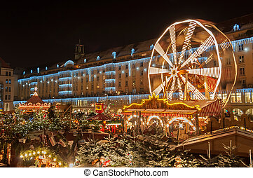 Christmas Market in Dresden. It is Germany's oldest...