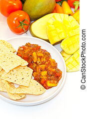 Salsa - Peach Mango Salsa with Chips