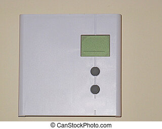 Digital Thermostat on a wall