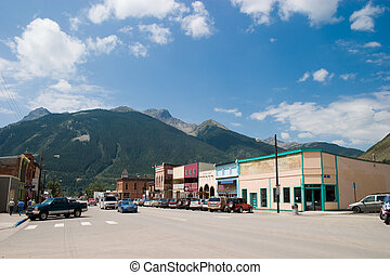 Historic Mountain Mining Town - Downtown historic Silverton,...