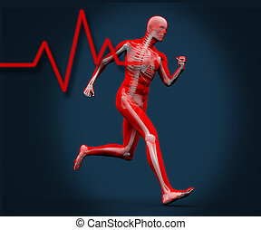 Digital body running - Strong digital body running with...