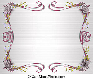 Roses Template Lavender - Border design element for...