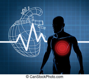 Mapping graphics heart and body