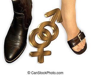 Man Woman gender symbols - 3 Dimensional gender symbols for...