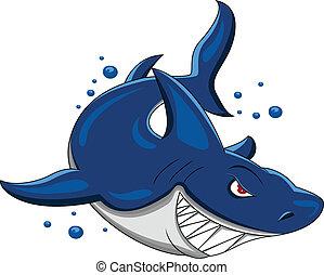 angry shark
