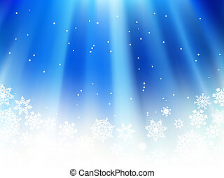 Christmas blue with snow flakes. + EPS8 - Christmas blue...