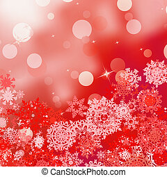 Festive red Christmas with bokeh lights. EPS 8 - Festive red...
