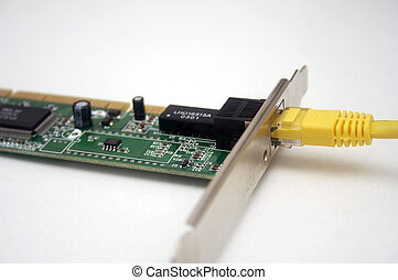 computer network card and cable