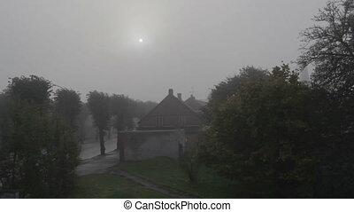 Fog in the morning. - Fog in the morning in Liepaja, Latvia.
