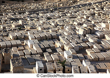 Graves on the Mount of Olives in Jerusalem, Israel