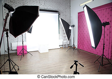 Glamis Castle - interior of a modern photo studio