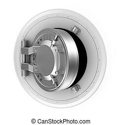 Bank vault door concept isolated - Bank vault door concept...