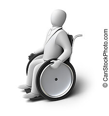 Disabled person on a wheelchair