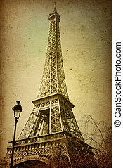 beautiful Parisian streets - The Eiffel Tower nickname La...