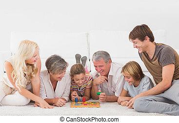 familia, juego, tabla, juegos