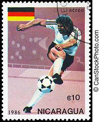 NICARAGUA - CIRCA 1986 Soccer