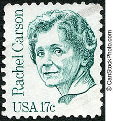 USA - 1981: shows Rachel Louise Carson (1907-1964) - USA -...