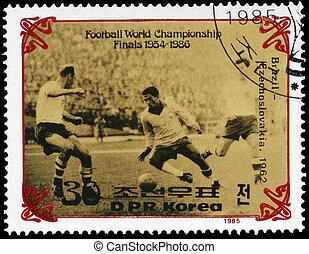 NORTH KOREA - CIRCA 1985 Final of World Cup