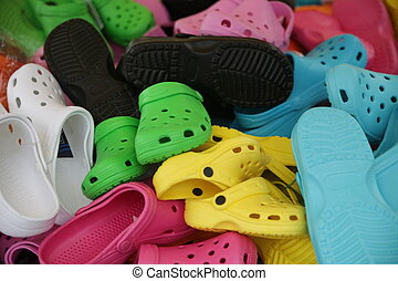 Colorful Shoes In Flea Market - colorful shoes or jootis or...