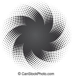 Halftone dots star background