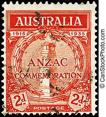 AUSTRALIA - CIRCA 1935 Cenotaph - AUSTRALIA - CIRCA 1935: A...