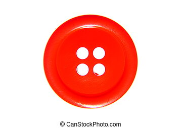 Red button - Close up of red button isolated on white...