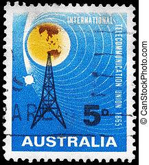 AUSTRALIA - CIRCA 1965 Radio Mast - AUSTRALIA - CIRCA 1965:...