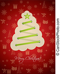Cool christmas greeting with green laces - Cool christmas...