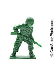 miniatura, brinquedo, soldado