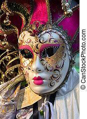 Venetian mask for sale at Winter Wondeland in Hyde Park