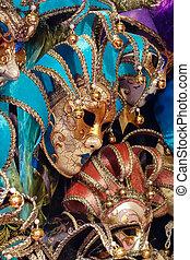 Venetian masks for sale at Winter Wondeland in Hyde Park