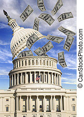 Washington Money - Washington with money flowing