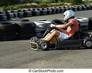 go kart in action active sport