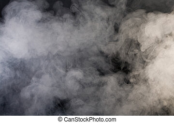 grey smoke with black background