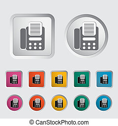Fax icon. Vector illustration EPS.