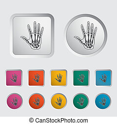 Anatomy hand icon Vector illustration