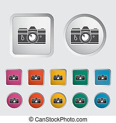 Icon vintage camera. Vector illustration.