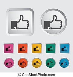 Like icon. Vector illustration EPS.