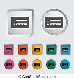 Login - Login icon Vector illustration EPS