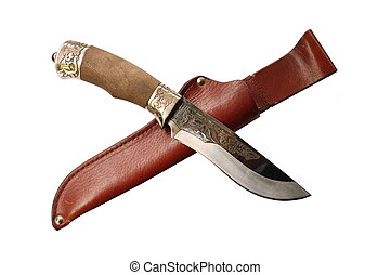 bowie-knife with scabbard