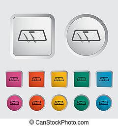 Wiper car single icon. Vector illustration.