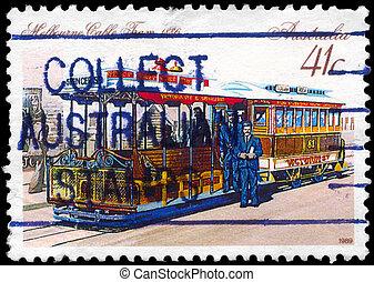 AUSTRALIA - CIRCA 1989 Cable Car - AUSTRALIA - CIRCA 1989: A...
