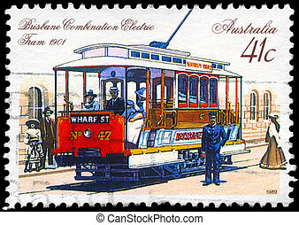 AUSTRALIA - CIRCA 1989 Combination Electric Tram - AUSTRALIA...