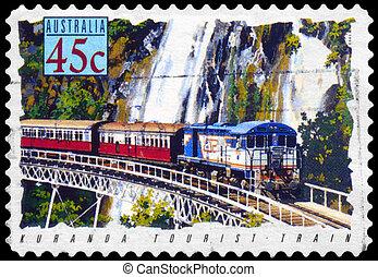 AUSTRALIA - CIRCA 1993 Kuranda Tourist Train - AUSTRALIA -...