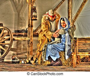 The Living Nativity in HDR