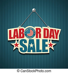 Happy Labor day american text signs vector illustration